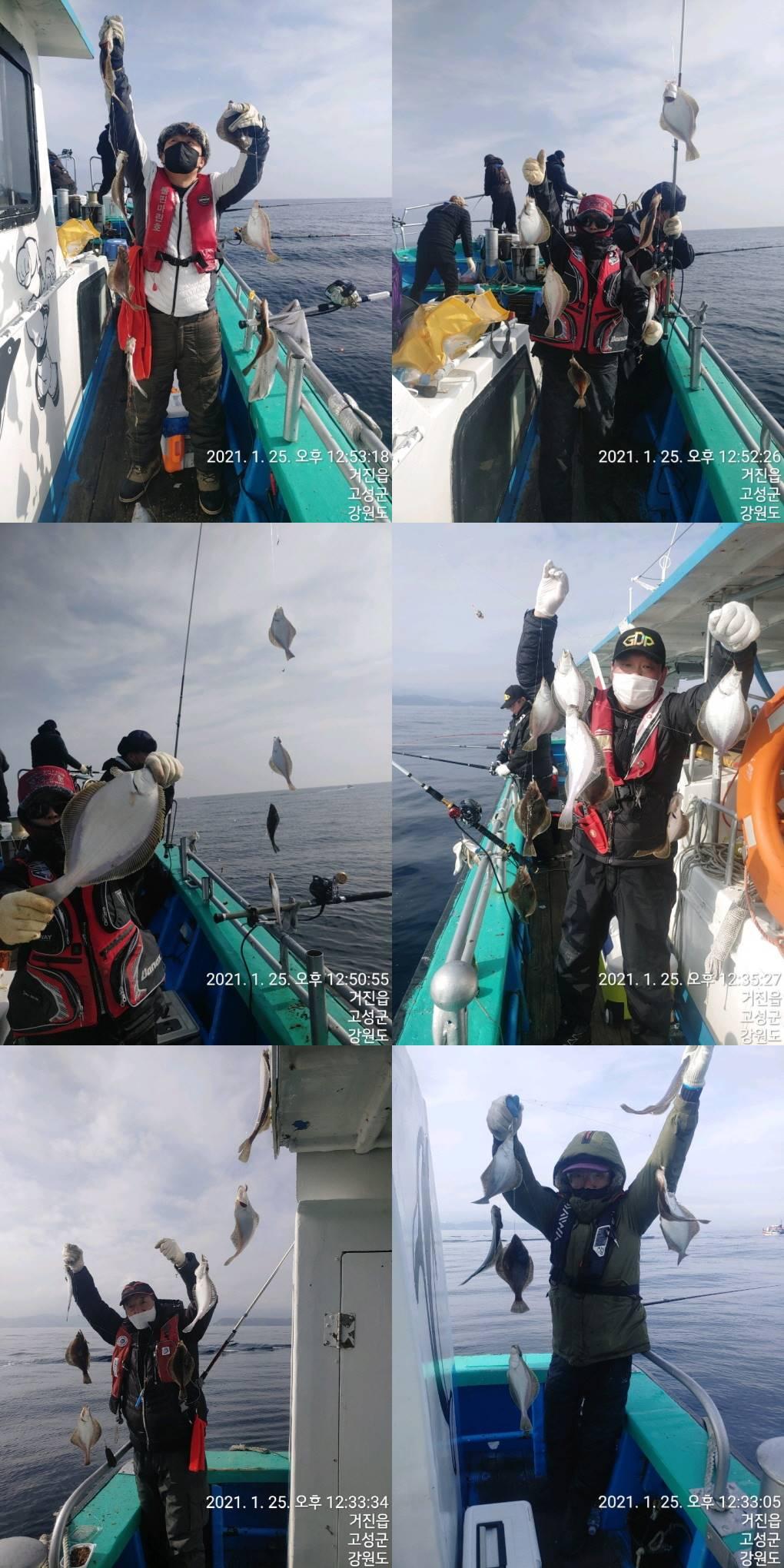 22인승 돌핀마린호 / 어구가자미 대~박 조황입니다.