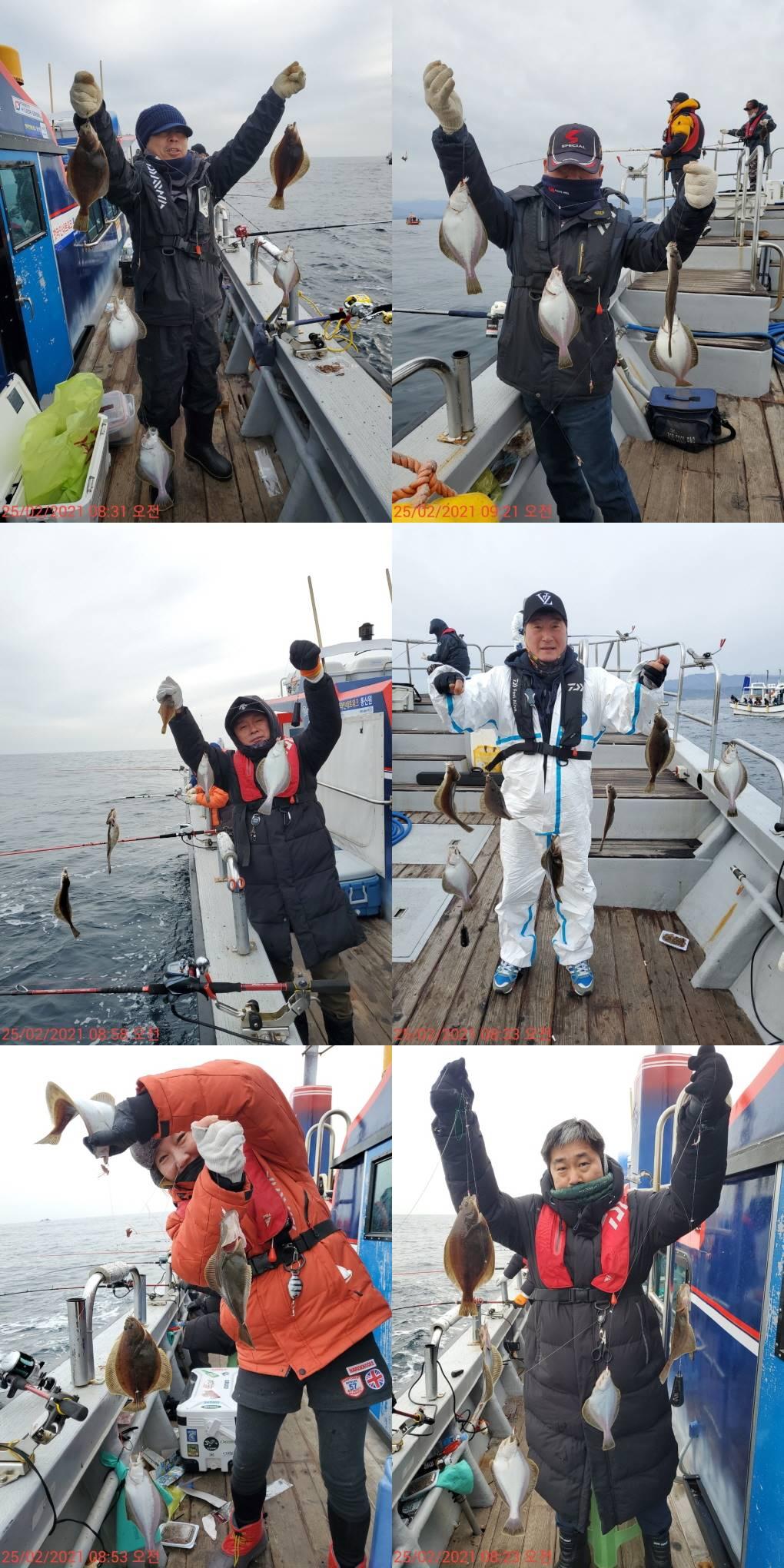 22인승 돌핀호 / 어구가자미 대~박 쿨러 조황입니다.